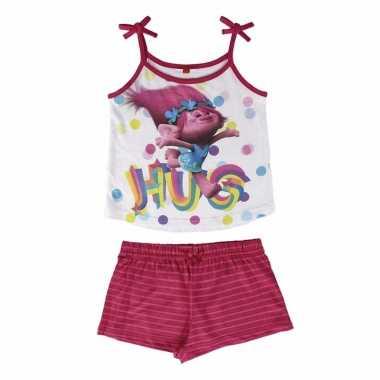Trolls poppy korte pyjama meisjes