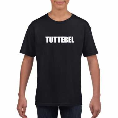 Tuttebel tekst t-shirt zwart meisjes