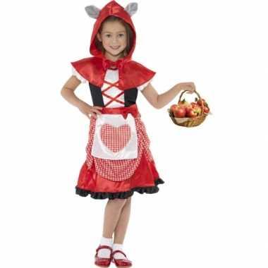 Verkleedkleding roodkapje voor meisjes