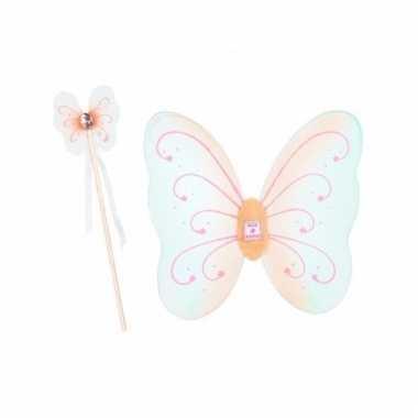 Vlinder verkleedset mintgroen voor meisjes