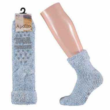 Wollen sokken in lichtblauw voor meisjes maat 31 34