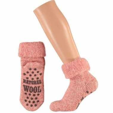 Wollen sokken in roze voor meisjes maat 23/26
