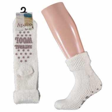 Wollen sokken in wit voor meisjes maat 31/34
