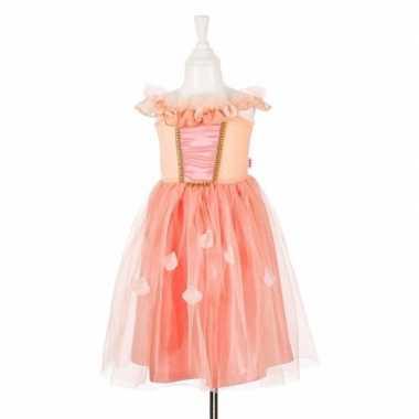 Zalmroze prinsessen jurkje met kant voor meisjes