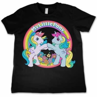 Zwart meisjes t shirt my little pony