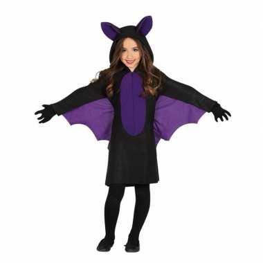 Zwart met paars vleermuis kostuum voor meisjes