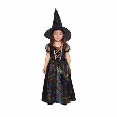 Zwarte heks jurkje voor meisjes