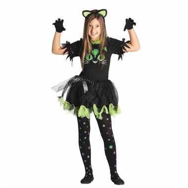 Zwarte poes/kat kostuum voor meisjes