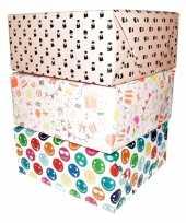 3x inpakpapier rollen voor meisjes cadeautjes