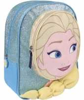 Blauwe frozen rugtas rugzak elsa 23 x 28 cm voor meisjes