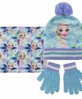 Blauwe frozen winterset voor meisjes
