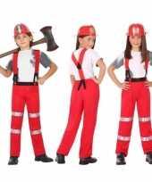 Brandweer pak verkleed kostuum voor en meisjes