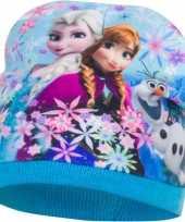 Disney frozen fleece muts lichtblauw voor meisjes