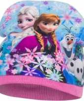 Disney frozen fleece muts roze voor meisjes