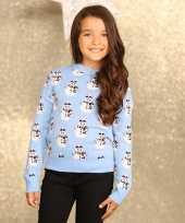 Foute sneeuwpop print trui voor meisjes