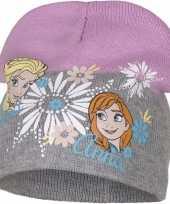 Frozen muts elsa en anna grijs voor meisjes