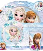Frozen ontbijtsetje 3 delig voor meisjes