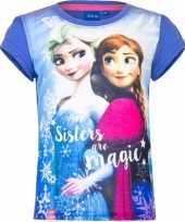 Frozen t-shirt paars voor meisjes