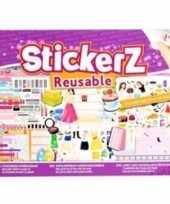 Meisjes autoraam stickers boek mode thema