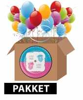 Meisjes babyshower onthulling decoratie feest pakket