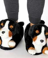 Meisjes dieren berner sennen hond pantoffels sloffen voor kinderen maat 34 36