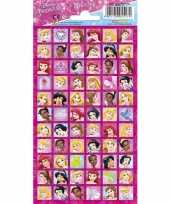 Meisjes disney prinsessen stickervel 66 stickers