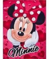 Meisjes fleece deken minnie mouse rood 90 x 120 cm