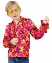 Meisjes flower power blouse met rouche kids