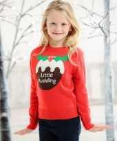 Meisjes foute kerst print trui rood voor kinderen
