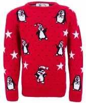 Meisjes foute print kinder truien met pinguins