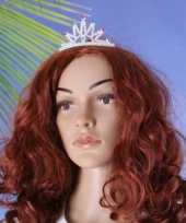 Meisjes glitter tiara met groene steentjes 10049103