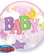 Meisjes helium ballon voor de geboorte van een meisje