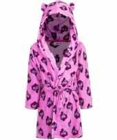 Meisjes my little pony badjas roze met capuchon voor kinderen