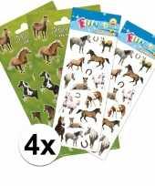 Meisjes poezie album paarden stickers pakket