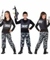 Meisjes politie swat verkleed pak kostuum voor kinderen