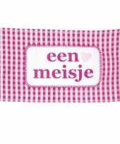 Meisjes roze geboorte vlag meisje 90 x 150 cm