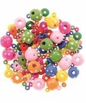 Meisjes sieraden maken kralenmix set rond met stippen