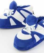 Meisjes sneaker pantoffels sloffen voor volwassenen blauw wit 45 47