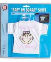 Meisjes t-shirt baby on board meisje voor in de auto
