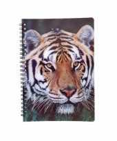 Meisjes tijger schrift 3d 21cm