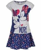 Minnie mouse blauw rokje met-shirt meisjes