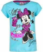 Minnie mouse t-shirt blauw voor meisjes 10076463