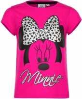 Minnie mouse t-shirt fuchsia voor meisjes