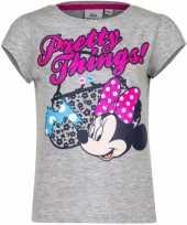Minnie mouse t-shirt grijs voor meisjes 10076467