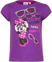 Minnie mouse t-shirt paars voor meisjes