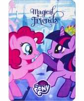 My little pony friends fleece deken plaid voor meisjes