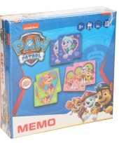 Paw patrol memory spel speelgoed voor meisjes kinderen