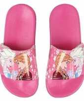 Roze elsa en anna frozen badslippers saunaslippers voor meisjes