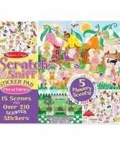 School stickers met bloemengeur voor meisjes