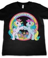 Zwart meisjes t-shirt my little pony